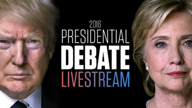 Presidential Debate 2016 Live Stream