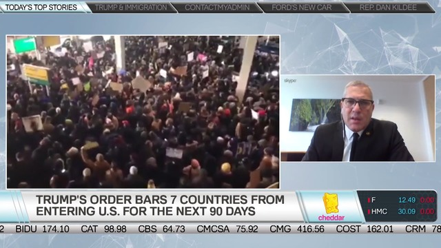 Immigration lawyer who represented Melinia Trump and discussing recent detention of immigrants at JFK