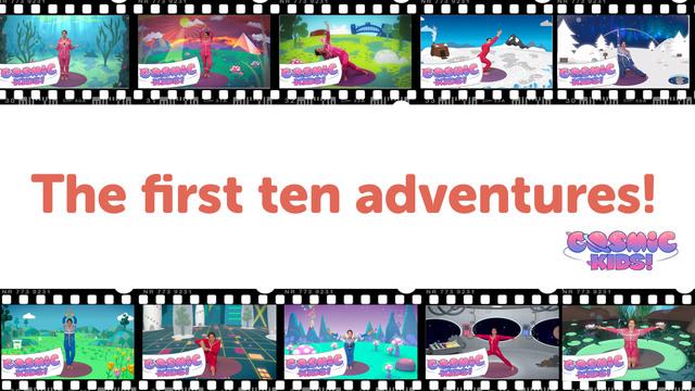 BUNDLE: The First Ten Cosmic Kids adventures!