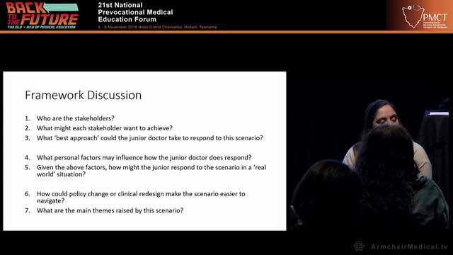 Senario - based professionalism discussions for junior doctors Dr Kerry Jewell - Post Graduate Medical Council of Victoria