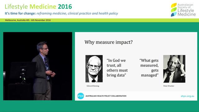 Moving prevention policies on chronic diseases forward in Australia Prof Maximilian de Courten
