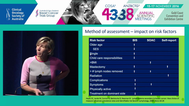 Breast cancer­related lymphedema incidence and risk factors Sandi Hayes