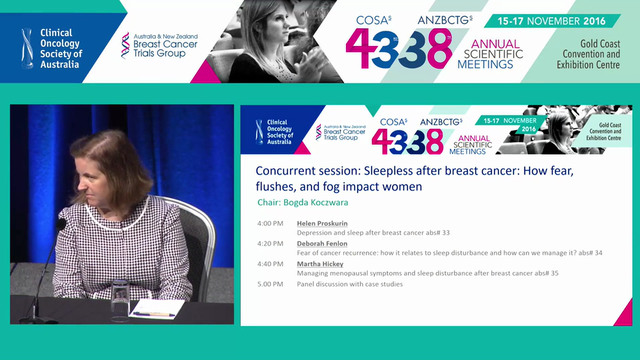 Sleepless after breast cancer Panel Discussion