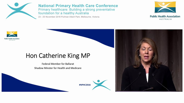 Hon Catherine King MP