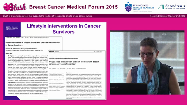 Opportunities to promote healthy living among cancer survivors Prof Elizabeth Eakin