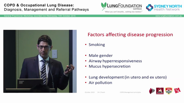 General principles in managing COPD Dr Claude Farah