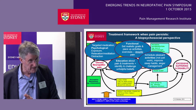 Psychological and Functional Management of Neuropathic Pain Professor Michael Nicholas