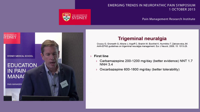Pharmacological Management of Neuropathic Pain Professor Philip Siddall