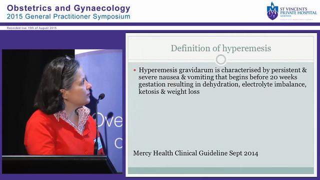 Hyperemesis, Bleeding in Early Pregnancy & Ectopic Pregnancy Dr Meredith Tassone