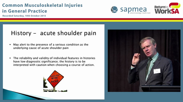 Assessment and management of shoulder...