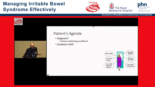 Irritable bowel syndrome diagnosis and approach to management Geoff Hebbard