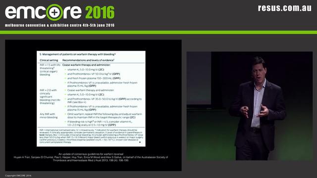 Anticoagulants and antidotes Dr James...
