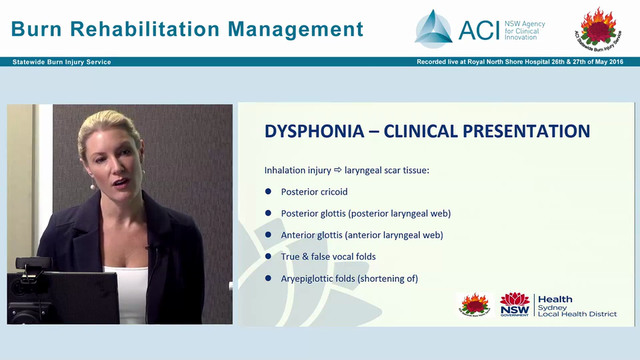 Rehabilitation of voice and swallowing disorders in the patient with severe burn injury Nicola Clayton