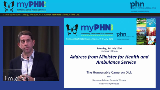 Address from Minister for health and ...