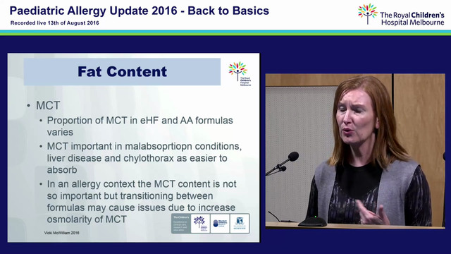 Infant Formula: A Practical Overview of Products for Food Allergy Vicki McWilliam Allergy Dietitian