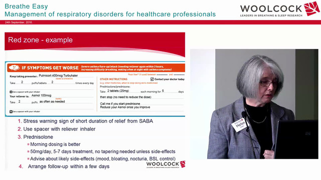 Asthma management, asthma action plans & Down Titration Prof Helen Reddel