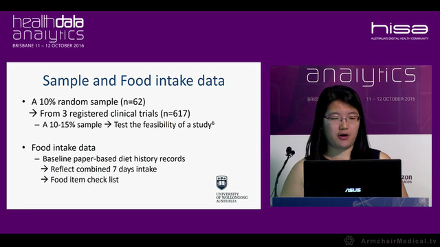 The feasibility of analysing food consumption combinations from overweight and obese participants of weight loss clinical trials Vivienne Guan University of Wollongong